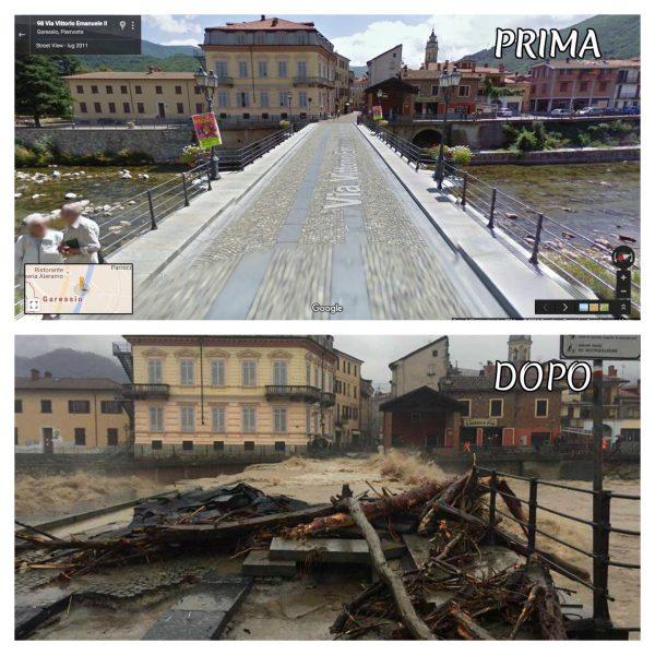 Piemont tartomány, Garessio (előtte/utána) fotó: Meteo Passione Italia