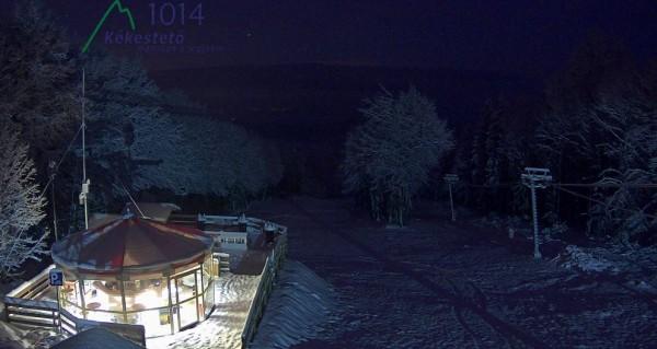 Kékestető sícentrum déli oldal hétfő hajnalban