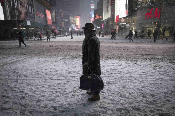 Times Square, New York, January 26, 2015. REUTERS/Mike Segar
